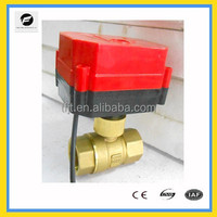 Brass 2-way DN20 DC5V Quickly install On-Off motorised electric ball valve