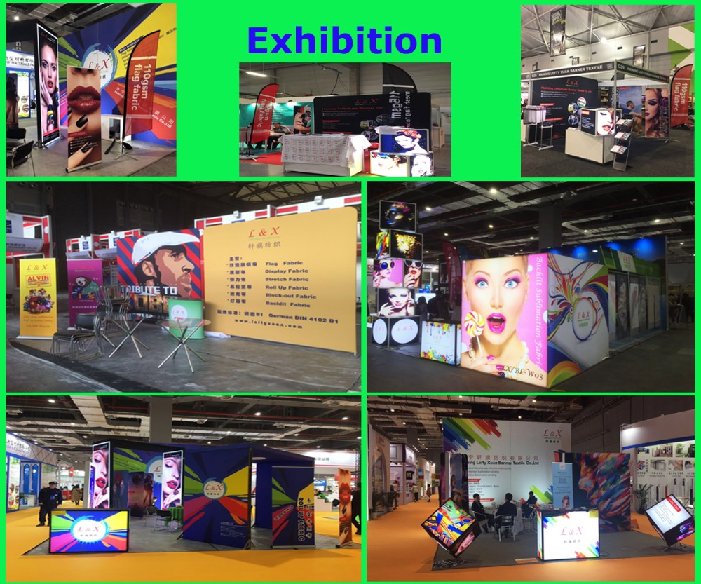 Display Frontlit Banner Fabric digital printing by sublimation for  Roll up, pop up