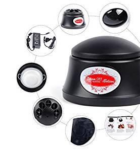 INHDBOX Nail Polish Steam Remover Machine,Electric Steam Easy Cleaner Polish Glue,Suitable For Any Polish Gel (Black)