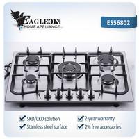 ES56802 68cm Stainless steel built-in gas stove/ gas range/ gas fire/ gas oven/ cooktop/ range master/ 5 Sabaf burners