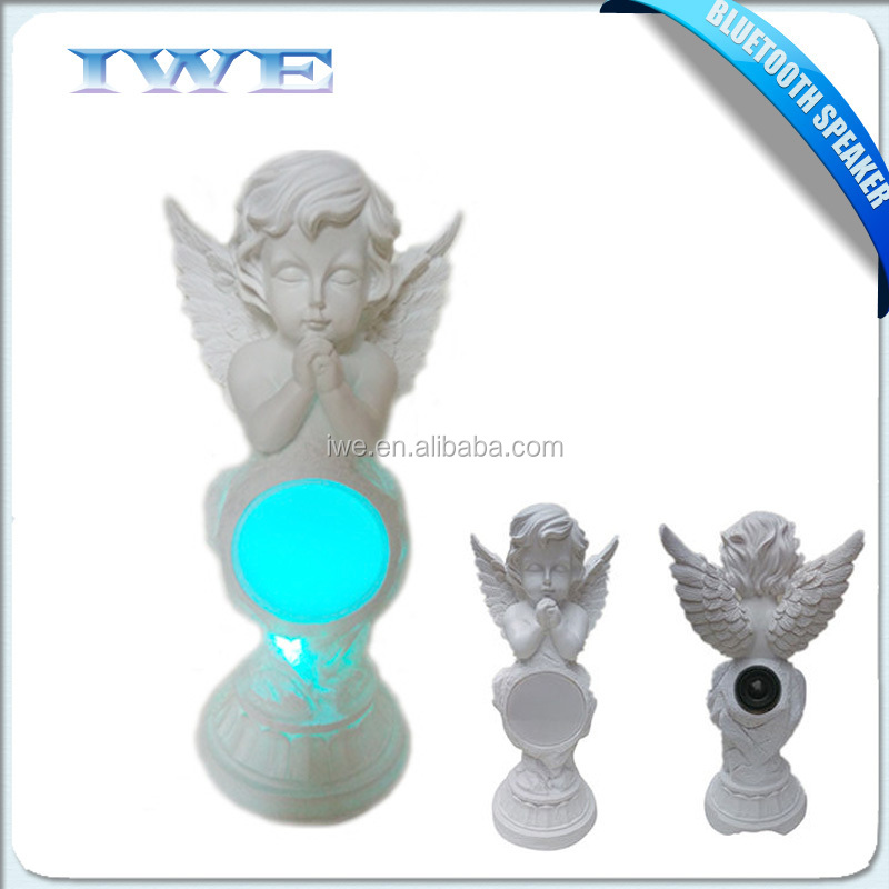 new technology product in china led bluetooth speaker portable music box angel shape