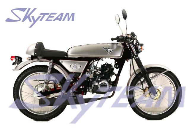 skyteam eec ace 50cc cafe racer motorfiets droom replica. Black Bedroom Furniture Sets. Home Design Ideas