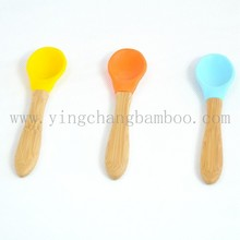 Organic Baby Utensils bamboo wooden silicone spoon products