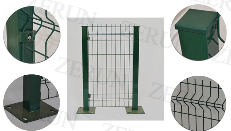 Decorative 3x3 Galvanized Cast Iron Welded Wire Mesh Fence With ...