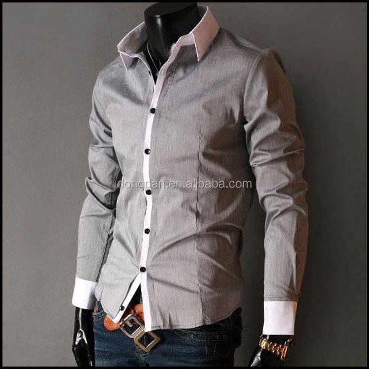 b07d30d3ac186 Nuevos hombres del diseño camisetas casuales última moda casual hombres  camisa para hombre con 100%