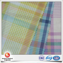 100% organic cotton check swiss voile fabric for shirt