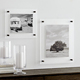 floating lucite picture gallery holder 5x7 wall mounted acrylic hanging A5 picture frame