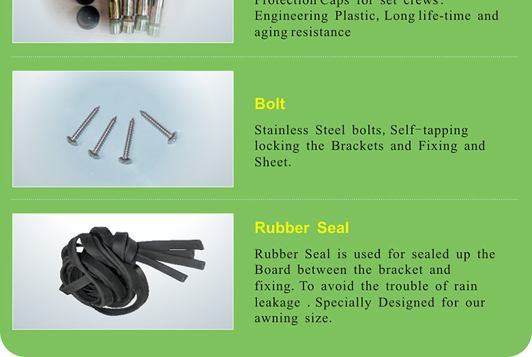 Diy Manual Install Plastic Aluminum Metal Awning Fittings