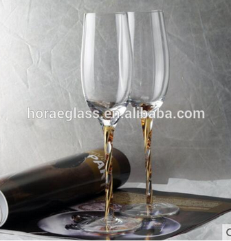 Wide Mouth Cheap Crystal Wine Glass Goblet Cocktail Wedding Glass Champagne Flute Giant Champagne Glass