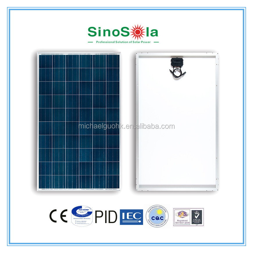 solar panel 250w sharp with TUV/IEC61215/IEC61730/CEC/CE/PID