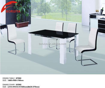 2017 Hot High Gloss Lacquer Dining Table With Gl Top Designs