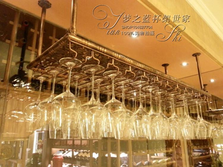 Top Rated Bar Iron Wine Rack Wine Glass Rack Wall Hanging