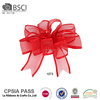 Factory wholesale outdoor red wired ribbon christmas tree decorative bows