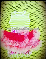 Boutique Wholesale childrens clothing sets New Design Baby Girls Dress With Ruffle Pant Two Pieces Outfit Sets