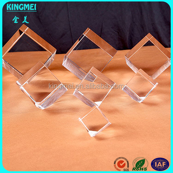 Factory Wholesale Clear 3D Laser Engraved Blank Crystal Cube