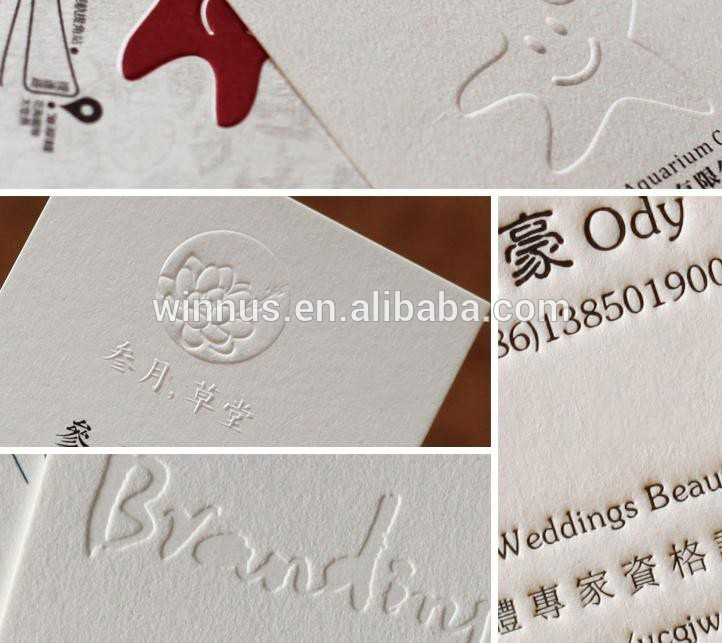 3d printing custom 600g cotton paper letterpress business cards