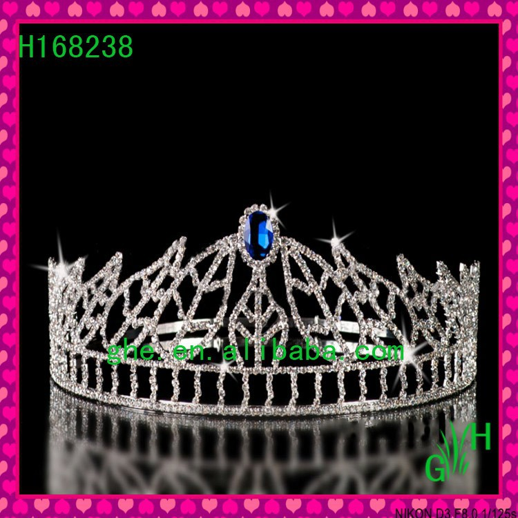 New's Hot Selling fashion Silver blue jewelry leaves tiara & crown