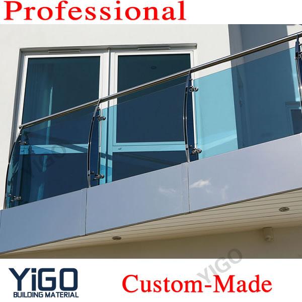 Geländer-balustrade Aus Glas Im Freien - Buy Glas Geländer,Glas ...