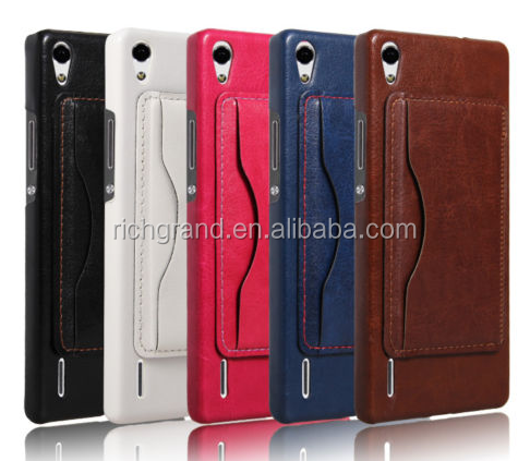 Luxury leather stand hard back case cover For Huawei Ascend P7 P8 P9