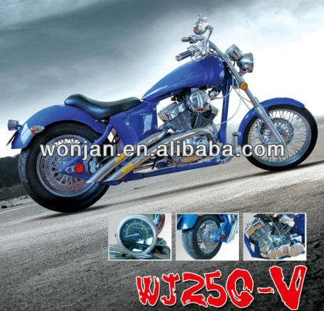 250cc v-twin engine chopper motorcycle with EEC DOT/cruiser (HBM250V)