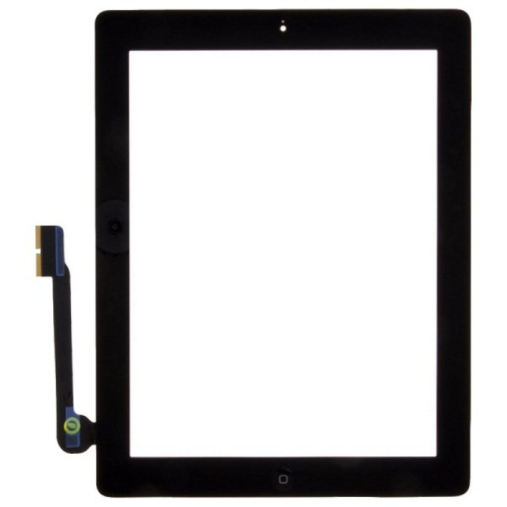 Digitizer & Home Button Assembly for Apple iPad 3 (Black) with Glue Card