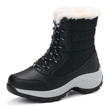 84c0ebc6 Las mujeres Botas de invierno zapatos mujeres Botas de nieve de las mujeres  Plus tamaño caliente plataforma Botas de invierno Mu.