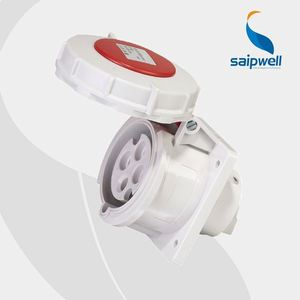 Saip/Saipwell 2015 New Design 4 hole wall waterproof socket 32A/400V