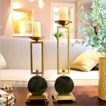 European style home decorations Alloy candlestick