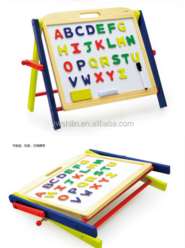 Wooden Mini Easel Kids White Board Toy Collapsible