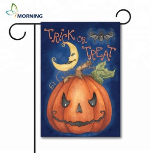Factory high quality cheap polyester Halloween garden flag
