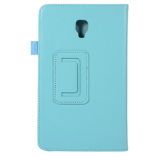 Flip Aberto Folio Tablet Couro Stand Case Capa para Samsung Galaxy Tab 8.0 T380 T385 2017