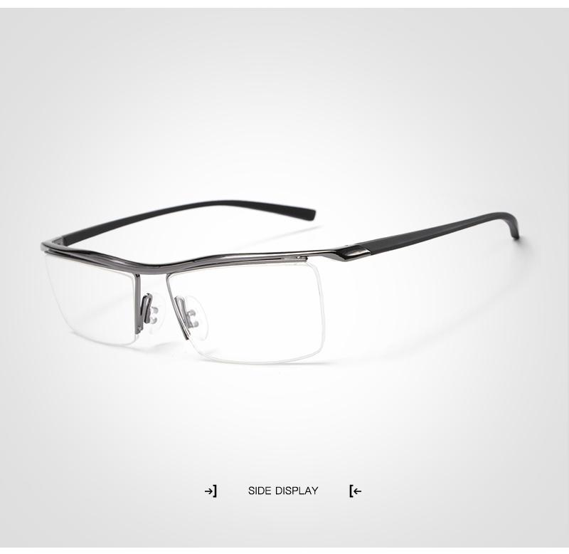 Business Männer Titan Halbrand Brillengestell Brillen - Buy Product ...