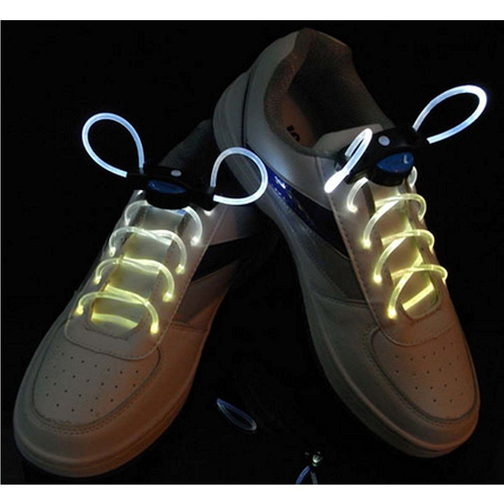 991a8a48ac Get Quotations · YEDAYS LED Optical Fiber Flashing Shoelaces Optical Fiber  Glowing Light LED Shoelaces Glow Dark Shoelaces£
