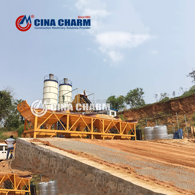 Types and characteristics of HZS25 concrete mixing plant