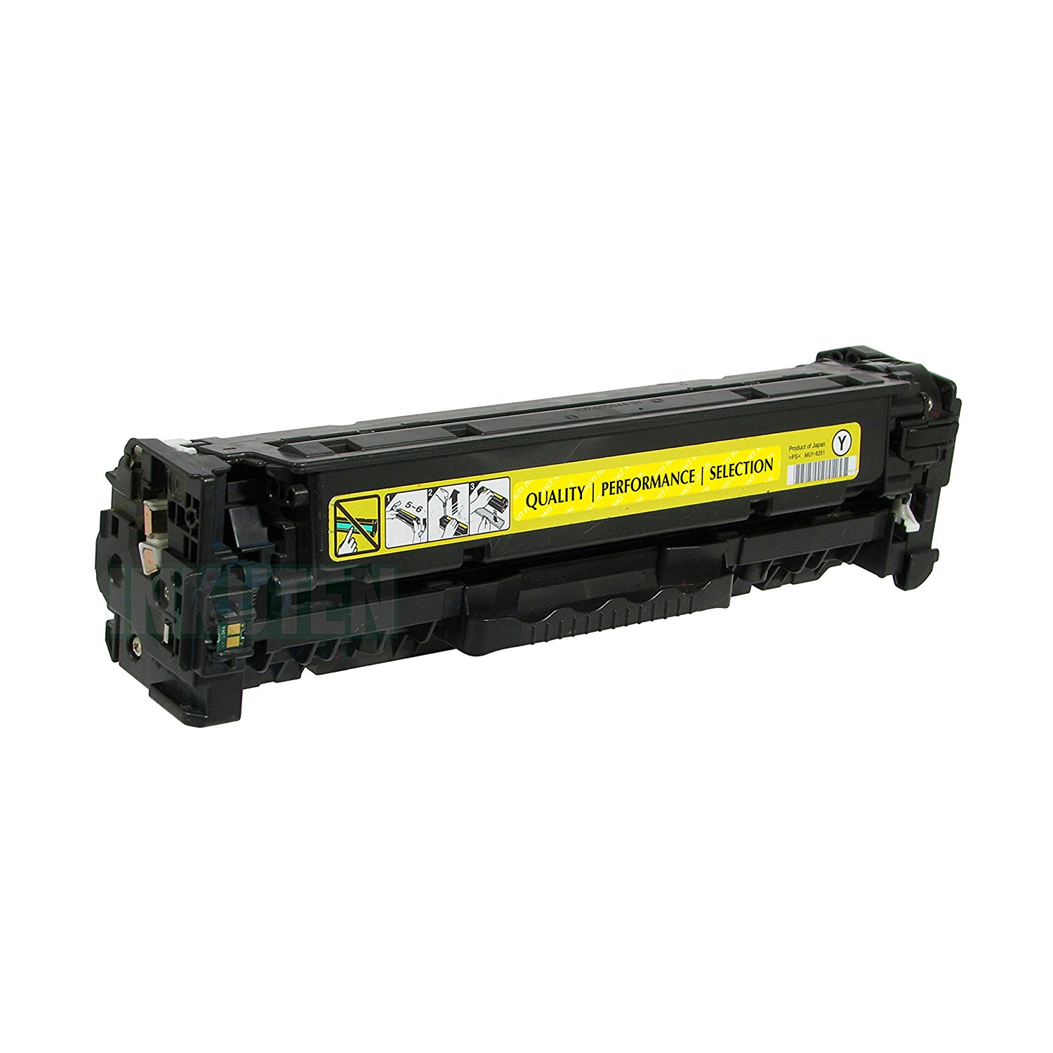 INKUTEN (TM) Compatible Toner Cartridge Replacement for Hewlett Packard HP CF402A 201A (1 Yellow) 1 Pack Compatible with M252dw, M252n, M277dw, M277n