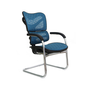 Mesh chair office furniture office visitor chairs no wheels for government project