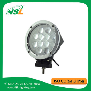 7 inch Super Bright, 60W LED driving Light Flood fog light off road 4WD ATV SUV 4x4 accessories in auto parts