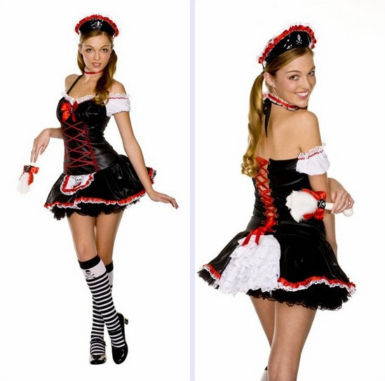 2013 Free shipping Leather fluffy Princess Dress costume,cosplay costume,sexy women halloween costumes HC149