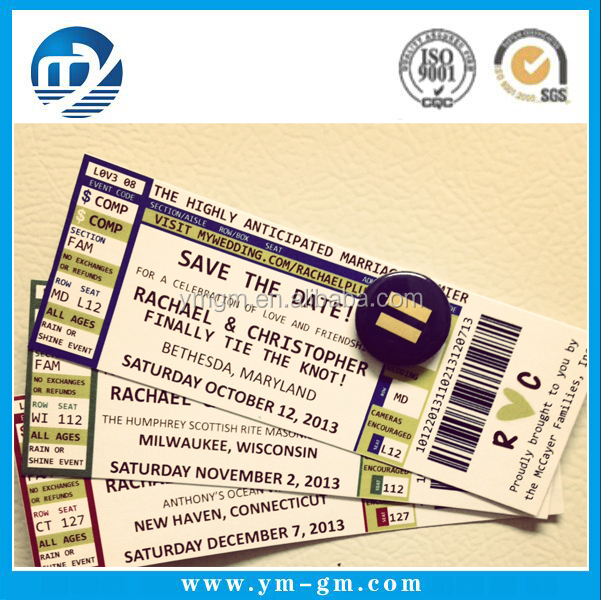 Ticket Printing Paper Tickets Custom Printed Concert Tickets  Printable Ticket Paper