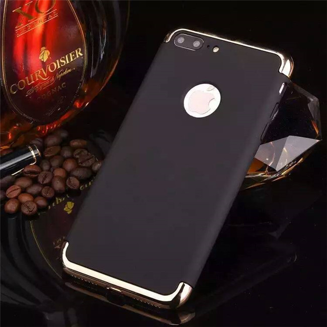 All in One Removable Detachable Full Body Electroplating Shockproof PC Matte Mobile Cell Phone Case for iPhone 7/7 Plus