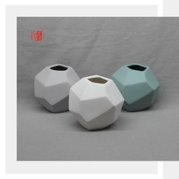 New Design Geometric Unique Shape Ceramic Vase Buy