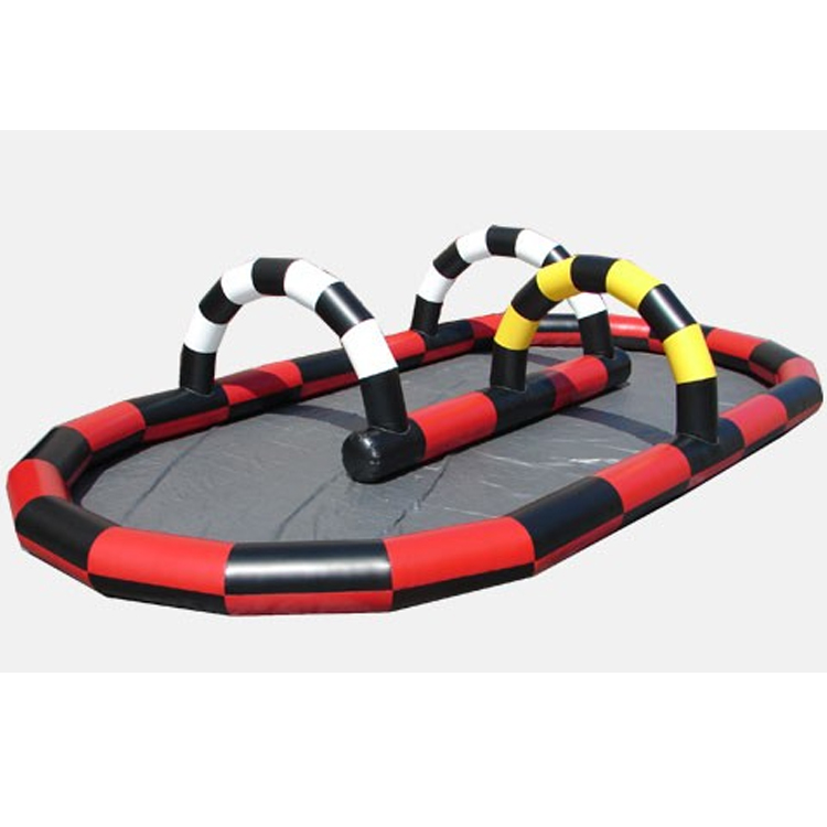 High Quality inflatable go karts race track,inflatable track race for zorb ball and horse game