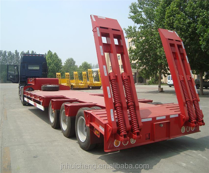 CIMC Tri-axle 80T Low Bed Semi Trailer For Sale Used Steel Coil Transport