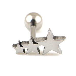 Surgical Steel Star Helix Tragus Piercing Jewelry Tragus Piercings