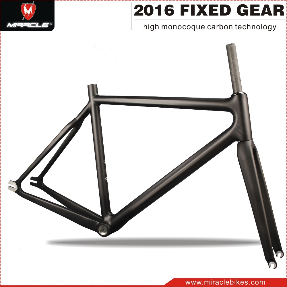 Miracle Bike New Carbon Fiber Single Speed Bike Frame,Fixed Gear ...