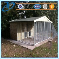 low price large stainless steel dog cage and portable china double dog cage