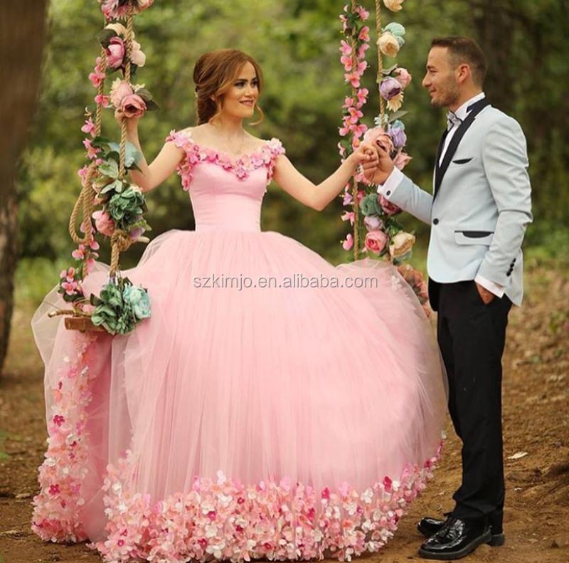 Venta al por mayor vestidos de fiesta rosa para niña-Compre online ...