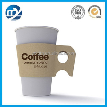 Custom Disposable Paper Coffee Cup Sleeve With Handle