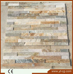 natural cement culture stone wall panels/stone with net on back