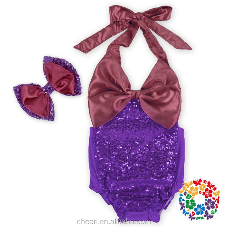 summer cheap high quality 2017 soft cute sequin butterfly bow bodysuit for baby